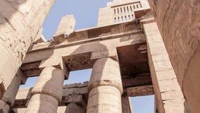 Tempel van Karnak oude Thebes Luxor, Egypte stock video