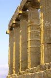 Tempel van kolommen Hera Royalty-vrije Stock Fotografie
