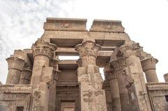 Tempel van Kom Ombo in Egypte Stock Afbeelding
