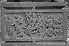 Tempel van Lord Shiva in Kikli, Maharashtra, India Royalty-vrije Stock Afbeeldingen