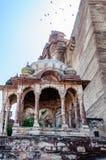 Tempel van Mehrangarh-Fort, Rajasthan, Jodhpur, India Royalty-vrije Stock Foto's