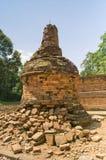 Tempel van Muara Jambi. stock afbeeldingen