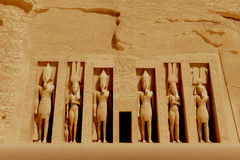 Tempel van Nefertiti Stock Foto