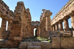 Tempel van Neptunus in Paestum, Italië Royalty-vrije Stock Fotografie