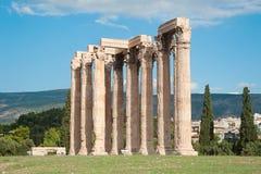 Tempel van Olympian Zeus in Athene, Griekenland 2 Stock Foto