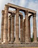 Tempel van Olympian Zeus Athens Stock Afbeeldingen