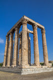 Tempel van Olympian Zeus Olympieion, Athene Royalty-vrije Stock Fotografie