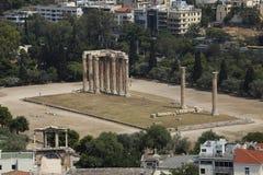 Tempel van Olympian Zeus Ruïnes, Athene, Griekenland Royalty-vrije Stock Foto
