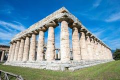 Tempel van Paestum - Salerno Royalty-vrije Stock Afbeeldingen