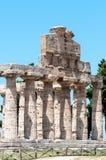 Tempel van Paestum - Salerno Stock Afbeeldingen