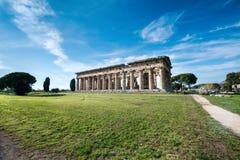 Tempel van Paestum - Salerno Royalty-vrije Stock Foto
