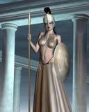 Tempel van Pallas Athene vector illustratie