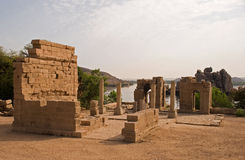 Tempel van Philae, Aswan stock afbeelding