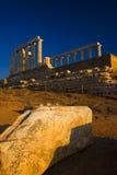 Tempel van Poseidon stock foto's