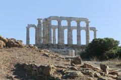 Tempel van Poseidon stock foto