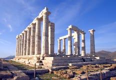 Tempel van Poseidon Stock Afbeeldingen