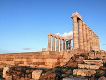 Tempel van Poseidon bij Kaap Sounion royalty-vrije stock fotografie