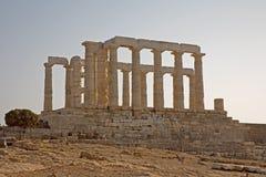 Tempel van Poseidon, Kaap Sounion, Griekenland Stock Afbeelding