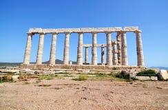 Tempel van Poseidon Sounion Griekenland stock afbeelding