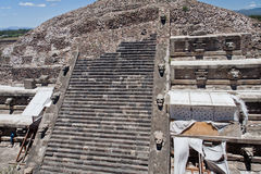 Tempel van Quetzalcoatl Mexico royalty-vrije stock foto