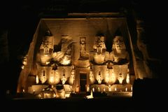 Tempel van Rameses II in Abu Simbel Royalty-vrije Stock Afbeelding