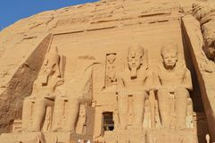 Tempel van Ramesses II in Abu Simbel Royalty-vrije Stock Afbeeldingen