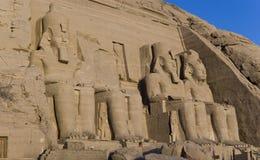 Tempel van Ramesses II, in Abu Simbel, Egypte stock foto