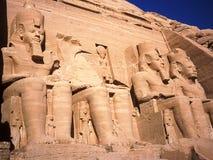 Tempel van Ramses II in Abu Simbel stock foto's
