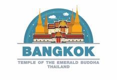 Tempel van smaragdgroene Boedha het Embleemsymbool in van Bangkok, Thailand Royalty-vrije Stock Afbeelding