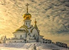 Tempel van st Serafijn van sarov in Khabarovsk Royalty-vrije Stock Afbeeldingen