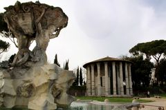 Tempel van Vesta - Rome royalty-vrije stock afbeelding