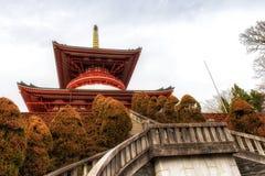 Tempel van Vredespagode, Naritasan-shinshoji boeddhistische tempel, Nar stock afbeeldingen