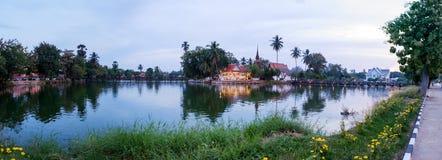 Tempel van wat traphang leren riem, Sukhothai, Thailand Stock Foto