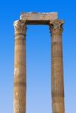 Tempel van Zeus in Athene, Griekenland Stock Afbeelding