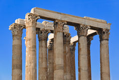Tempel van Zeus in Athene, Griekenland Stock Foto's