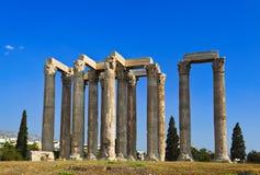Tempel van Zeus in Athene, Griekenland Stock Afbeeldingen
