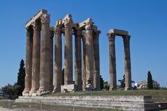 Tempel van Zeus in Athene, Griekenland Stock Foto