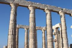 Tempel van Zeus in Athene Griekenland Royalty-vrije Stock Afbeeldingen