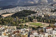 Tempel van Zeus in Athene, Griekenland Royalty-vrije Stock Afbeelding
