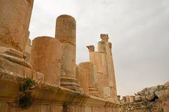 Tempel van Zeus, Jerash Royalty-vrije Stock Fotografie
