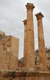 Tempel van Zeus, Jerash Stock Fotografie