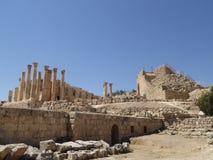Tempel van Zeus, Jordanian stad van Jerash (Gerasa van Antiquiteit) Stock Afbeelding