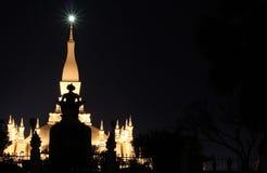 tempel vientiane för laos luangpha Royaltyfria Foton