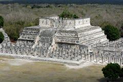 Tempel von 1000 Kriegern Stockfotografie