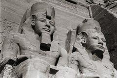 Tempel von Abu Simbel Ramses II, Ägypten, im Oktober 2002 Lizenzfreie Stockfotos