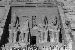 Tempel von Abu Simbel Ramses II, Ägypten, im Oktober 2002 Stockfotos