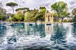 Tempel von Aesculapius im Landhaus Borghese, Rom, Italien Stockbild
