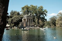 Tempel von Aesculapius in Rom Lizenzfreies Stockbild