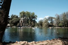Tempel von Aesculapius in Rom Lizenzfreies Stockfoto