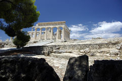 Tempel von Afaia, Griechenland Stockbild